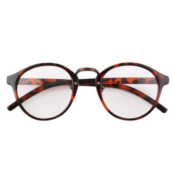 Multicolor Retro Geek Vintage Nerd Große Rahmen Fashion Rund Klar Objektiv Gläser F5 cSPEbKZ