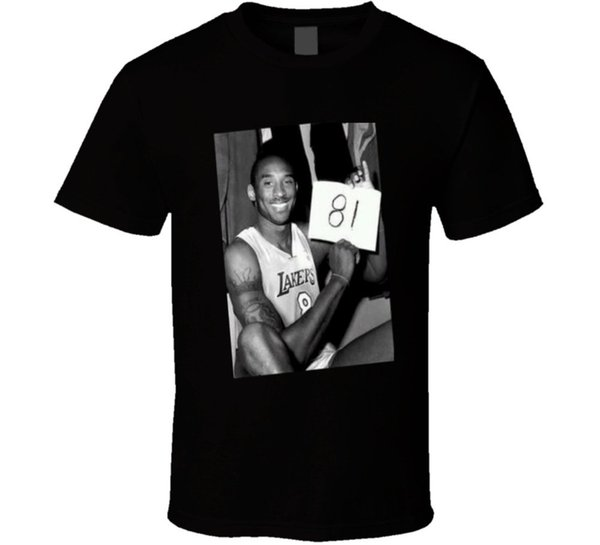 T-Shirt Kobe Bryant 81 Point Game Version 2 nera