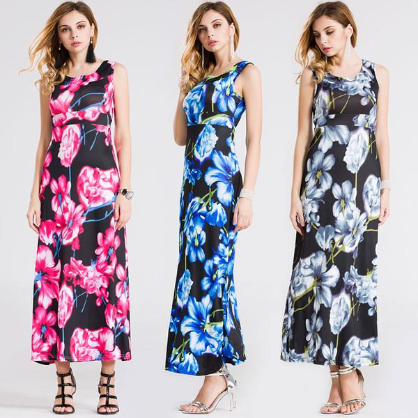 Vintage Long Dress Sleeveless Party Vestidos Summer Dresses Plus