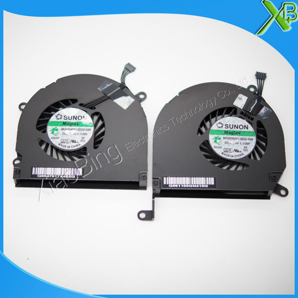 """Wholesale-Brand New Left & Right laptop CPU cooler Fan for Macbook pro 15.4"""" A1286 MG62090V1-Q030-S99 MG62090V1-Q020-S99"""