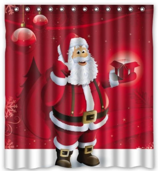 2019 Custom Merry Christmas With Santa Claus Waterproof Bathroom Fabric Shower Curtain 66 X 72 From Dhkey2014 35 17 Dhgate Com