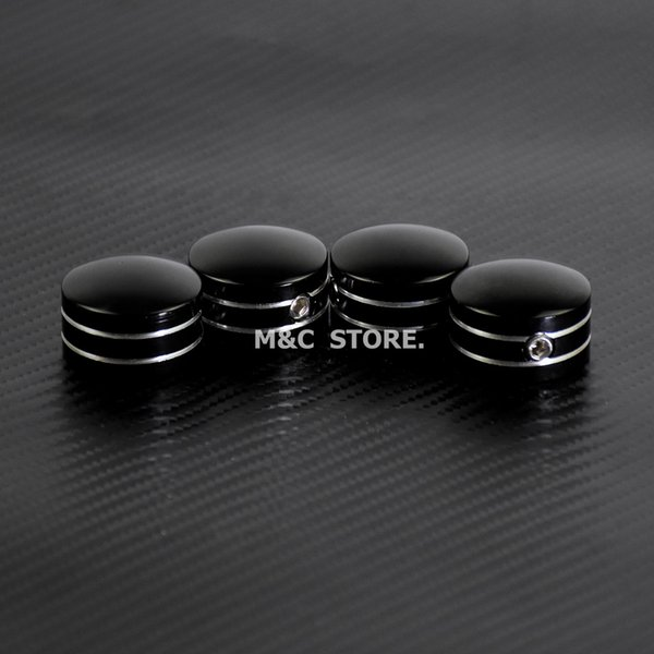 2019 Motorcycle Head Bolt Covers Case Black/Chrome For Harley Twin