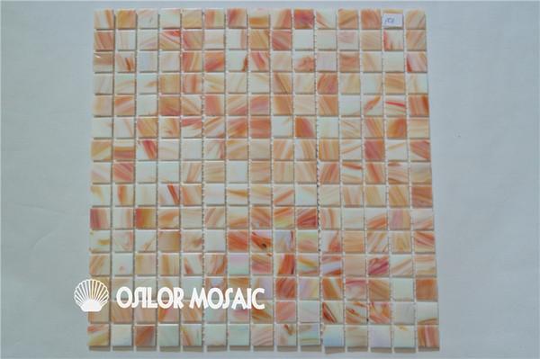 Acquista piastrella in mosaico di vetro iridescente piastrelle da