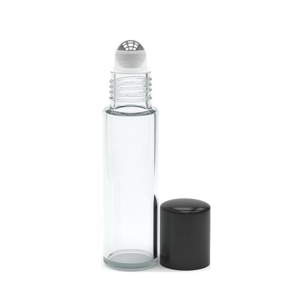 #E Clear Bottles Black Cap