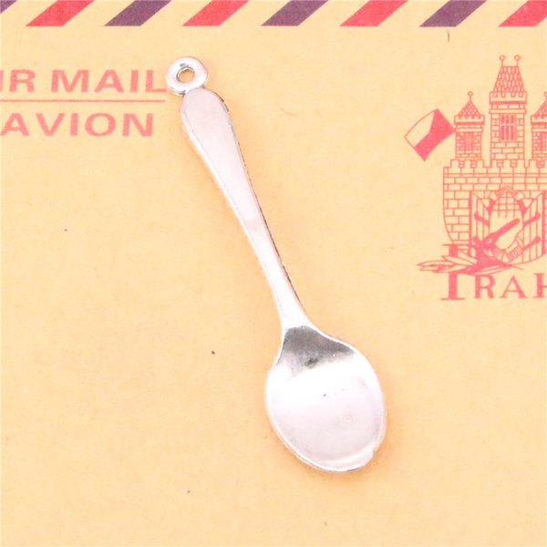 65pcs Tibetan Silver Plated spoon Charms Pendants for Jewelry Making DIY Handmade Craft 54mm