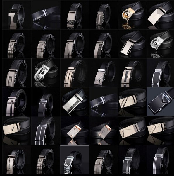 top popular men's leather belt Fashion automatic buckle strap for Business Luxury casual s Waist Strap Belt Waistband 77 styles KKA1361 2019