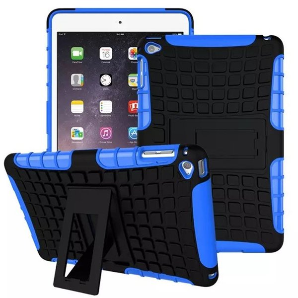 2 in 1 Defender Rugged Armor Case Tablet Cover für Ipad Mini 1 2 3 4 Mit Standfuß Stoßfeste Shell-Haut