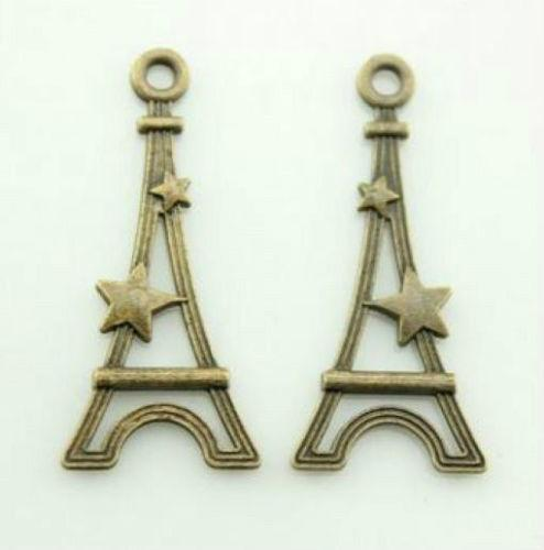 100pcs 13x28mm Flat Eiffel Tower Charm pendant Antique bronze Lovely charms For diy necklace Jewelry Making findings