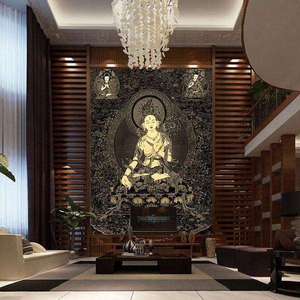 Buddha Schlafzimmer großhandel 3d buddha wallpaper buddha statue thangka wandbild