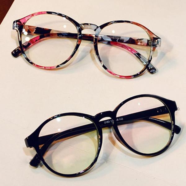 Moda vintage Óculos Ópticos Quadro De Vidro Transparente Das Mulheres Dos Homens de Marca Redonda Clara Transparente Mulheres Óculos Oculos Femininos Gafas
