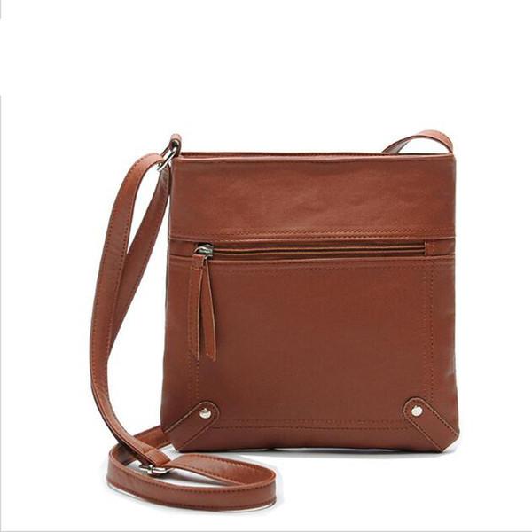 Wholesale- 2016 Leather Small Women Messenger Bags Lady Crossbody Bags For Women Cross Body Purse Satchel Bolsas Femininas Sac A Main Femme