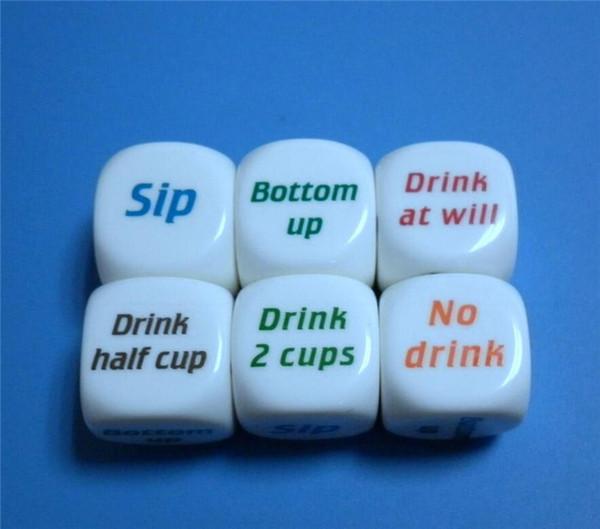 DHL Party Decider Dice Games Pub Bar Fun Die Toy Gift Bar Game Drinking Dice 2.5cm JC109
