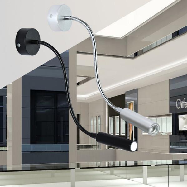 Acheter Argent Noir Flexible Tuyau Mur Led Lampe 3w Sur La Lumiere