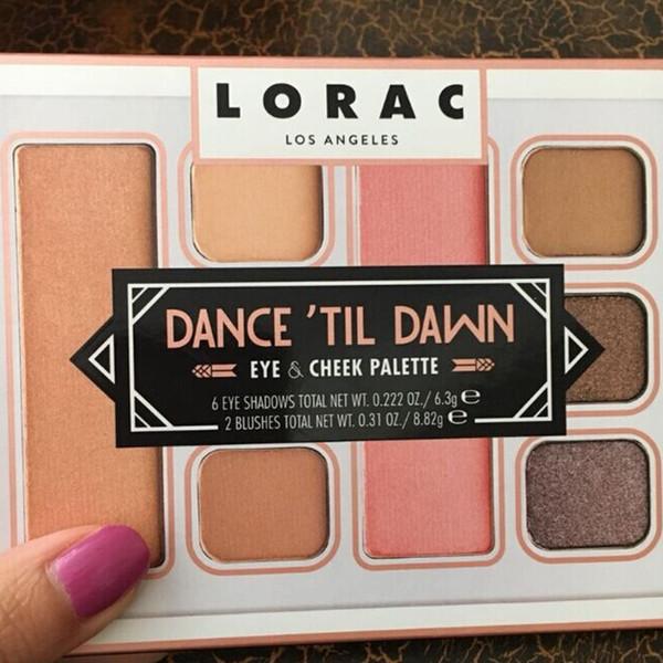 Eye Shadows LORAC Dance'til Dawn Eye & Cheek Palette Brands Eyeshadow Blush Makeup Cosmetics Palettes Make Up Beauty Kits