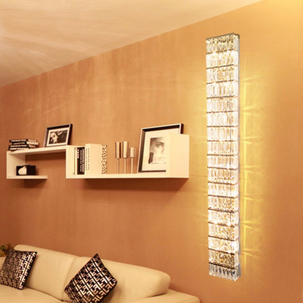 beside lamps large Fashion crystal wall lamp hotel project led sconce for home decoration lamps Modern TV background crystal wall lamps
