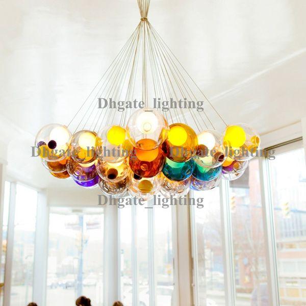 Diameter 15cm color glass ball pendant lights chandelier of diameter 15cm color glass ball pendant lights chandelier of colorful glass spheres modern suspension lamp color aloadofball Gallery