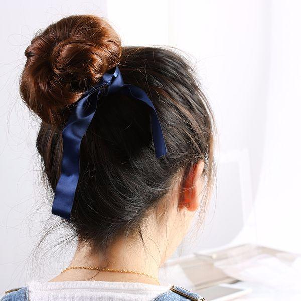 Fashion Magic Tools Foam Sponge Messy Donut Bun Hairstyle Bows Headwear Elastic Hair Band Accessories For Women Lady Girl Toddler Flower Girl Hair
