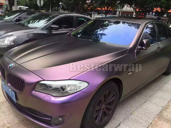 Purple wine red Satin SHIFT Chameleon Vinyl Wrap Film With Air Bubble Free Shiny Flip Flop FOR WHOLE Car wrap covering Skin 1.52*20M/Roll