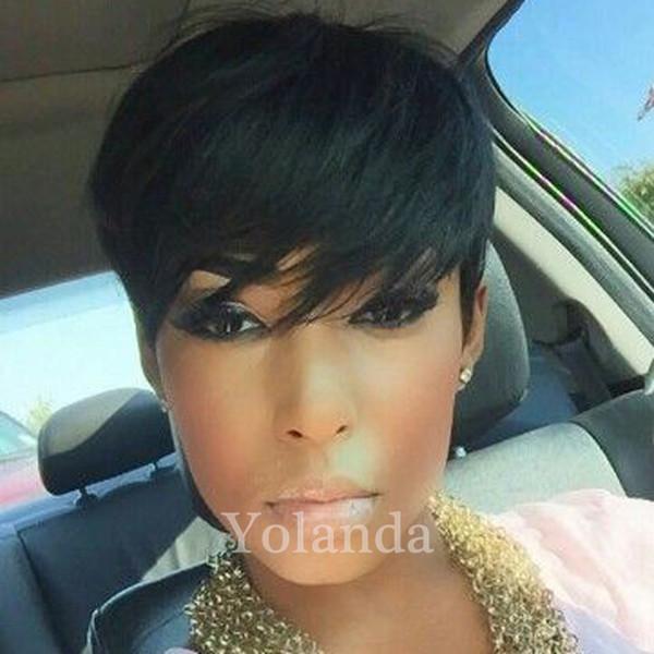 Brazilian Bob Style Short 100 Human Hair Wigs Full Wigs Hairstyles Cut Full lace Pixie human Hair wigs for Black Women Hot Selling
