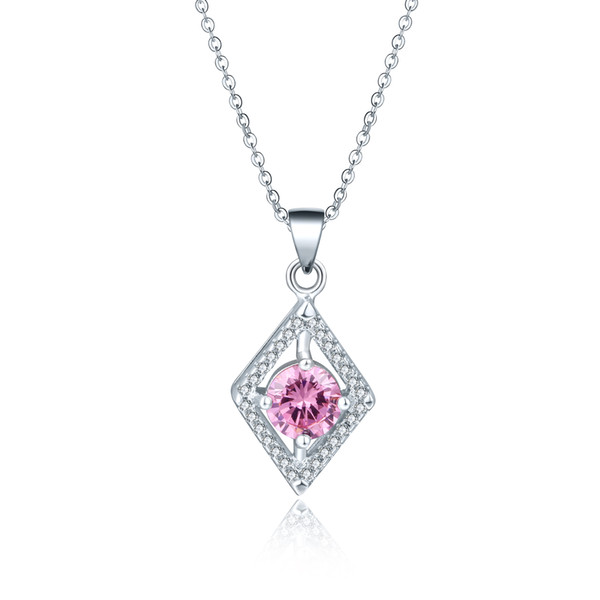 two carat pendant fancy tone gold in envy pink light diamond necklace