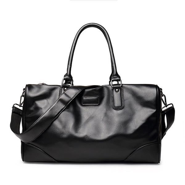 Outdoor Waterproof PU Leather Men's Travel Bags Quality Man Duffle Large Capacity Traveling Handbag Duffle woman Shoulder Messenger Bag Spor