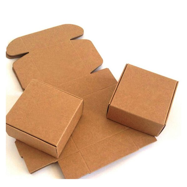 100pcs Kraft paper gift packaging box custom carton cardboard box handmade soap Jewelry Candy packages paper box small