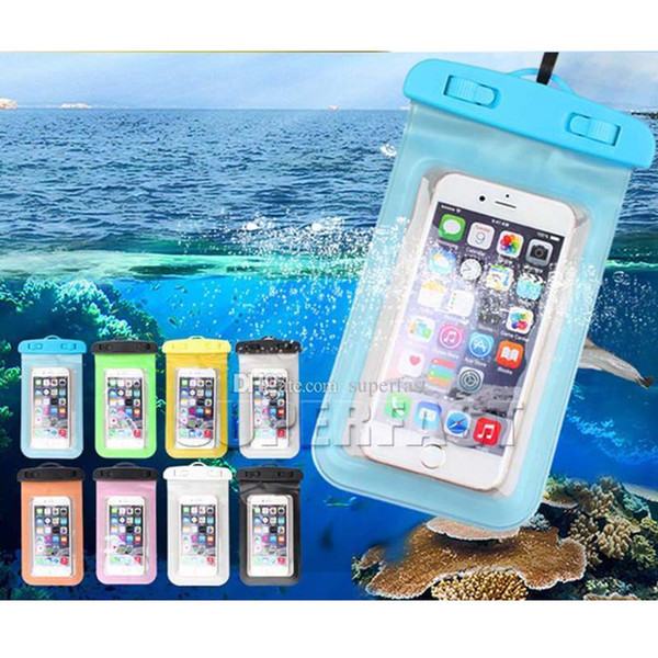 Universal Waterproof Cellphone Bag For Galaxy S8 S9 Plus Dry Bag Pouch with Compass Swimming Bags For iPhone 7 Plus iPhone 8 Up to 5.8 inch