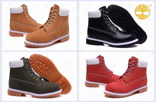 Acheter Brand New Classic Timberland Men Boots Mode Timberlands Bottes Premium À 6 Pouces 10061 Chaussures À L'épreuve De L'eau À L'hiver De $171.35
