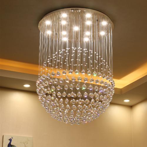 LED chandelier modern simple style bedroom living room restaurant rectangular crystal chandeliers bar aisle pendant lamp 110V 220V 230V 240V