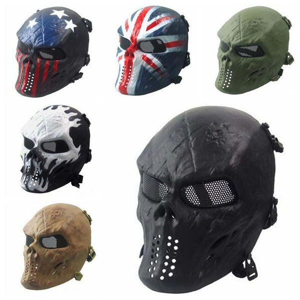 Zombies Skeleton Masks Masquerady Mask For Man Halloween Walking Dead Field Armaments Customer Party Mask Military Solider CS Face Mask