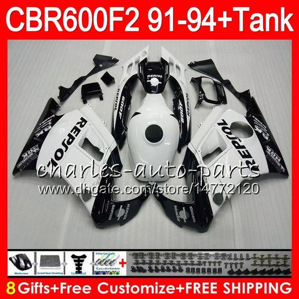 8 Presentes 23 Cores Para HONDA CBR600F2 91 92 93 94 CBR600RR FS 1HM13 Repsol branco CBR 600F2 600 F2 CBR600 F2 1991 1992 1993 1994 Carenagem preto