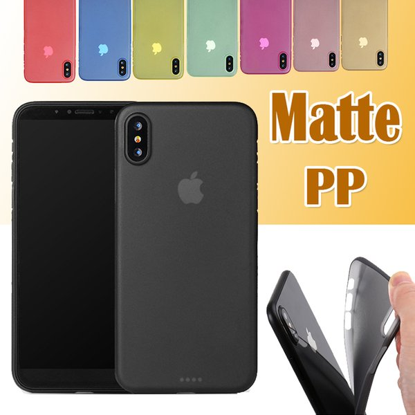 0.3mm Protection Ultra Slim Soft PP Transparent Clear Matte Frosted Cover Case For iPhone XS Max XR X 8 Plus 7 6S Samsung Galaxy S9 S8 Note