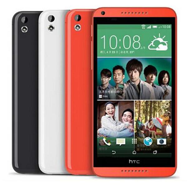 Refurbished Original HTC Desire 816 5.5 inch Quad Core 1.5GB RAM 8GB ROM 13MP Camera 3G Unlocked Android Smart Cell Phone Free DHL 5pcs