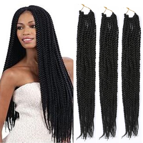 Crochet Black Braiding Hairstyle Senegalese Synthetic Faux Locs Twist Hair Extensions Havana Mambo Dreadlocks Braid Extensions Feather In The Hair