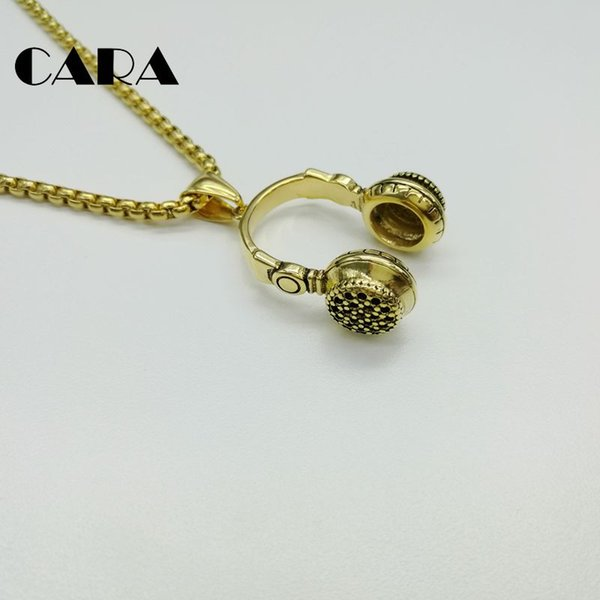 Jewellery & Watches Hip Hop Jewelry Men Necklace Stainless Steel Music Headphone Pendant Cool Gifts