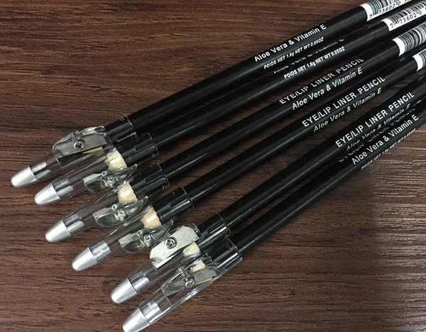 best selling Hot makeup eyebrow pencil with sharpener eyeliner pencil black and brown