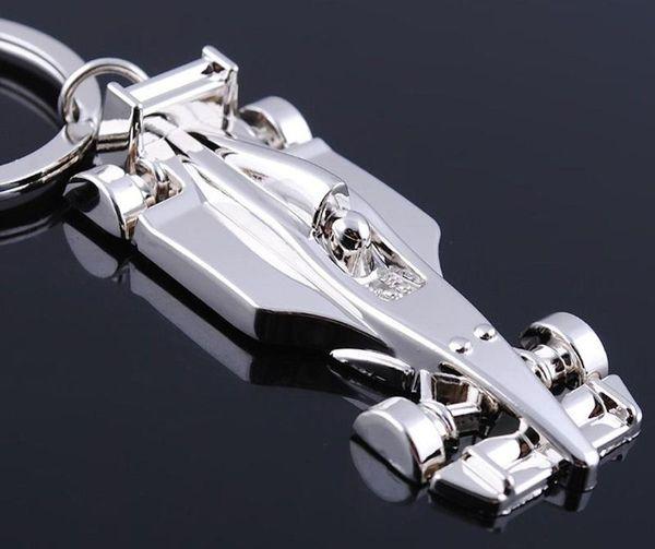 free shipping fashion F1 car model Simulation metal key chain keychain key ring hot gift drop shipping