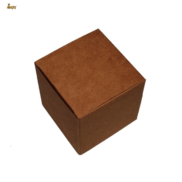 50pcs/lot 6x6x6cm cute small beautiful carton Jewelry Box kraft paper packaging boxes Cosmetics boxes valve tubes packing box