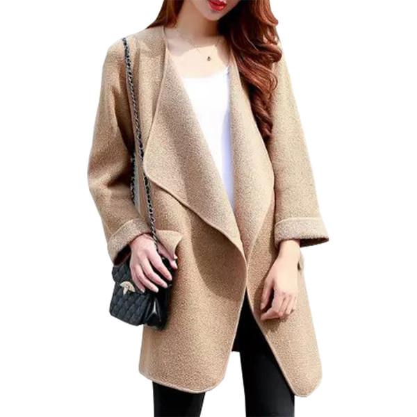 Wholesale- Foreign Trade Sweater Women New Winter Long Pull Loose Sweaters Coat Leisure Wild Knit Cardigan Jacket Jumper Vestidos LXJ342