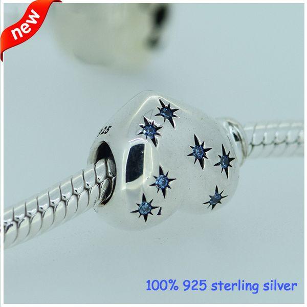 Fits Pandora Bracelets Cinderella Heart Silver Beads New Original 100% 925 Sterling Silver Charm DIY Jewelry Wholesale