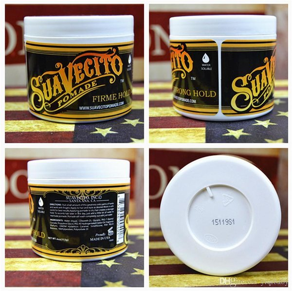 2pcs Suavecito Pomade Hair Gel Style firme hold Pomades Waxes Strong hold restoring ancient ways big skeleton hair slicked back hair oil