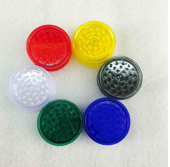 top popular 60mm plastic grinder with grinder for crushing vanilla with high quality grass grinder 2021