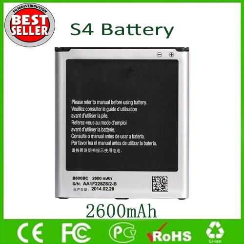 top popular S4 Battery B600BC B600BE For Sam S4 IV I9500 9500 I9505 Replacement Batteries 2600mAh Factory Direct Free Shipping 2019