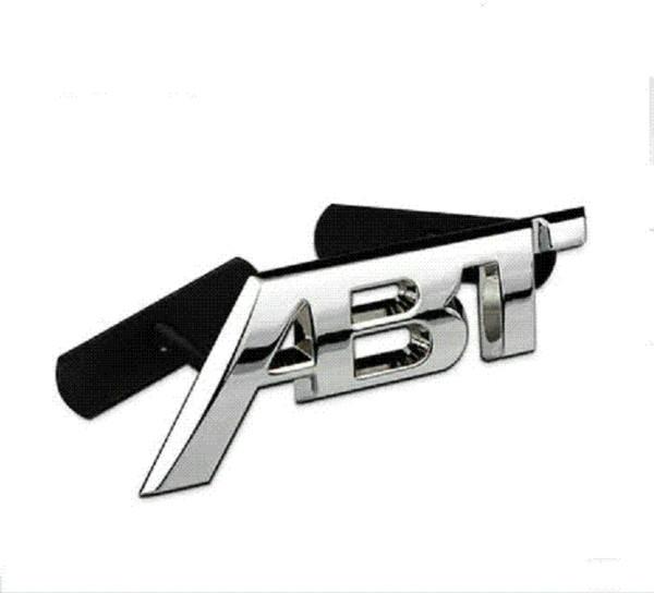 Metal ABT refit Aluminum car badge auto front grille emblem 3D ABT logo stickers car sticker decal for VW CC/Polo/passat b5