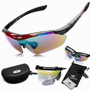 ROBESBON Cycling Glasses Bike Outdoor Sports Bicycle Sunglasses Goggles 5 Groups of Lenses Eyewear Myopia Frame 0089
