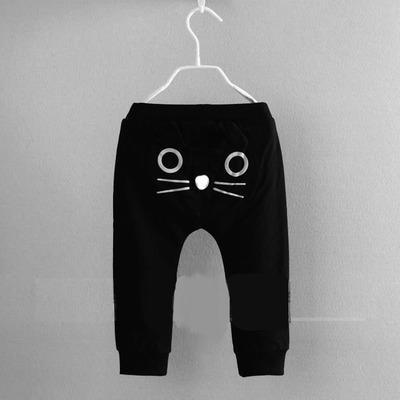 Sıcak 2016 ilkbahar ve sonbahar çocuk giyim erkek kız harem pantolon pamuk baykuş pantolon bebek pantolon