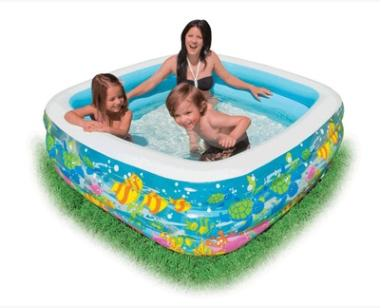 Aquarium Inflatable Paddling Pool Household Swimming Pool Family Sea Ball Pool Sand Pit for Kid Child