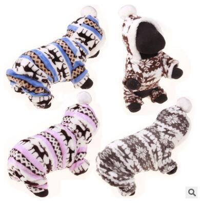 Cão de estimação Roupas de Natal Roupas de Inverno Para Animais De Estimação Cão Rena Floco De Neve Quente Coral Casaco de Lã Para Pequenos Cães Casaco Hoodies Para Chihuahua