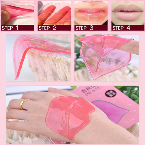 Wholesale-New Beauty Pink Collagen Lip Mask Care Gel Mask Membrane Moisture Anti-Ageing Make Your Lip Attractive & Sexy Free Shippng