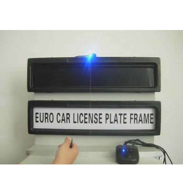 Free shipping General steady plastic Stealth Remote control Privacy Cover Licence Plate frame keep vehicle safe suitable Euro and Russia